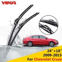 """YIKA 24 """"+ 18"""" Para Chevrolet Cruze (2009-2015) Limpador de Parabrisas Carro U-tipo Ventosa de Borracha De vidro Lâminas ISO9001-Car styling"""
