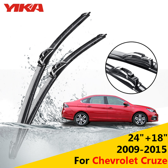 "YIKA 24""+18"" For Chevrolet Cruze (2009-2015) Windscreen Wiper Car U-type Glass Rubber Windshield Blades ISO9001 Car-styling"