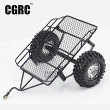 1/10 Simulation DIY remorque Car Hopper Trail Pour Tamiya Cc01 Axial Scx10 90046 90048 Rc4wd D90 Traxxas Trx-4 Trx4 Rc Sur Chenille