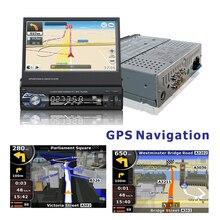 Nuevo navegador 1 din radio de coche volante usb sd con GPS MP5 FM bluetooth 7 pulgadas de Pantalla Táctil TFT FM Sintonización Electrónica