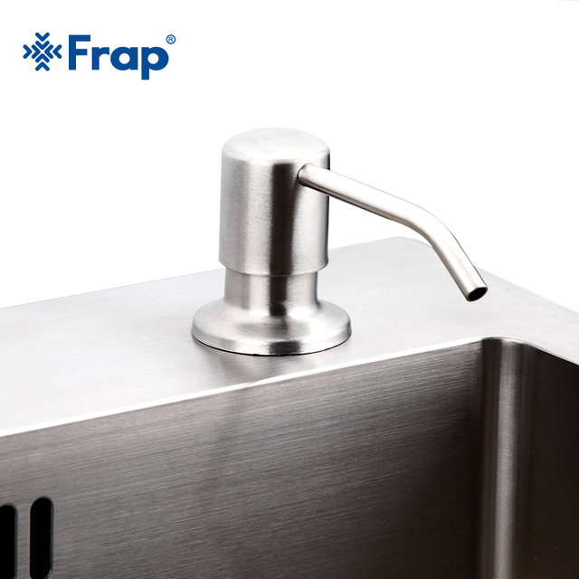 Frap Modern Stainless Steel Nickel Countertop Liquid Dish Hand Pump  Replacement Kitchen Sink Soap Detergent Dispenser
