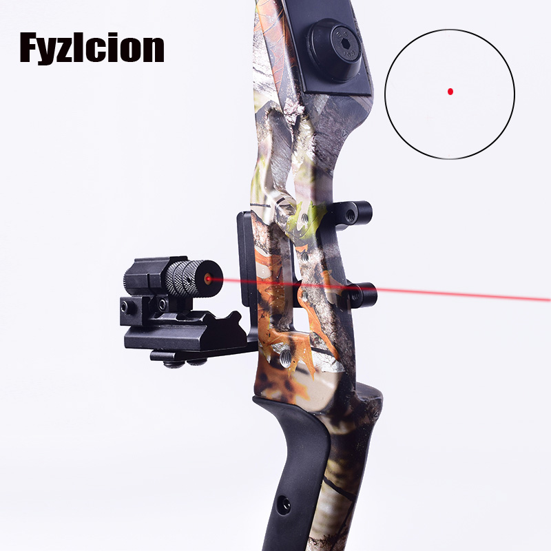 Compound Bow Scope Laser Rail Mount Adapter Steady Aluminum Alloy Archery Mini CNC Machined Bow +Tactical red dot Mini Red Laser