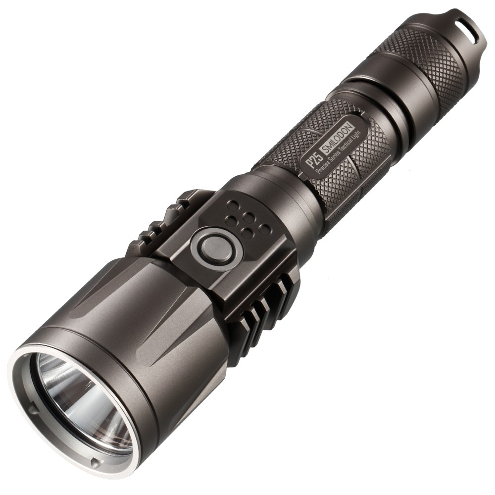 SALE! NEW NITECORE P25 Grey/Black LED Flashlight [Smilodon] Tactical USB Rechargeable 960 Lumens 8 Mode Waterproof Free Shipping nitecore mh2a 600 lumens u2 led rechargeable flashlight military outdoor tactical torch without battery free shipping