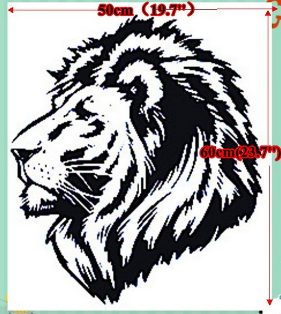 2016 Hot Sale Black Lion Totem Wallpaper Mural Cartoon Stickers 12