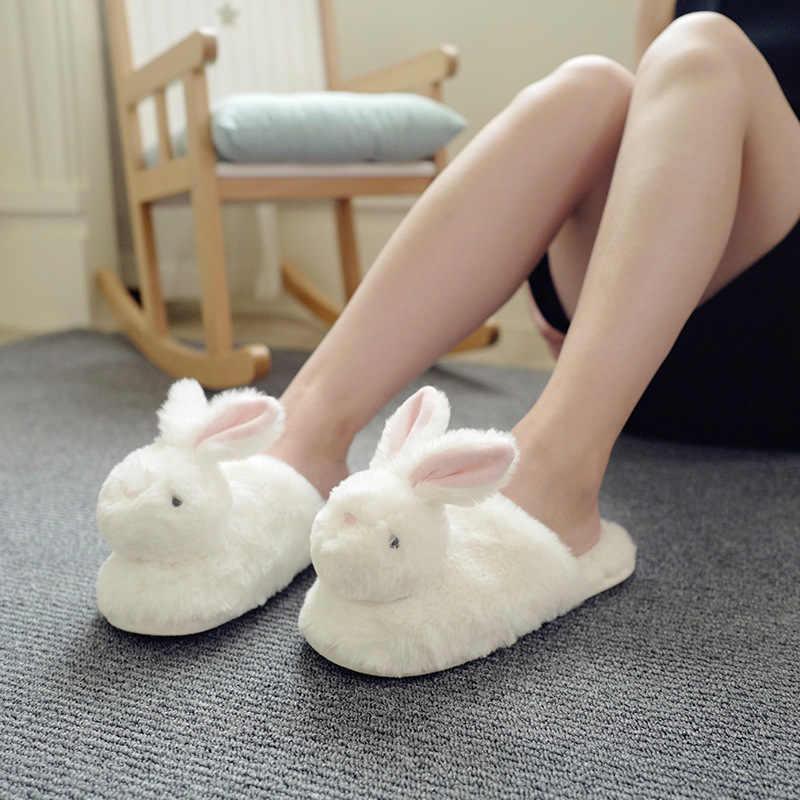 Zapatillas De Casa Kawaii Esponjosas Para Mujer Pantuflas De Felpa Cálidas De Animales Pantuflas De Casa Zapatos Informales Suaves Para Niña Zapatillas Aliexpress