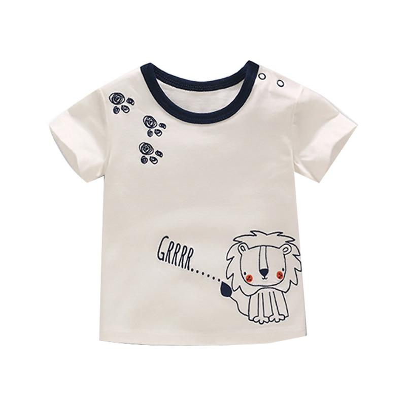 Letnie Dzieciaki Chłopcy T Koszula Korona Druku Krótkim Rękawem - Odzież dla niemowląt - Zdjęcie 1