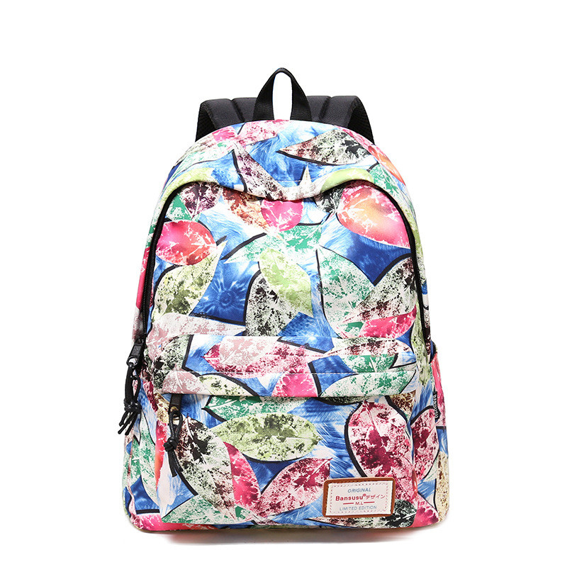 2 Sizes Women Backpack Bookbag Floral Printing Knapsack School Bag Laptop Backpack For Teenage Girls Travel Backpack Mochila