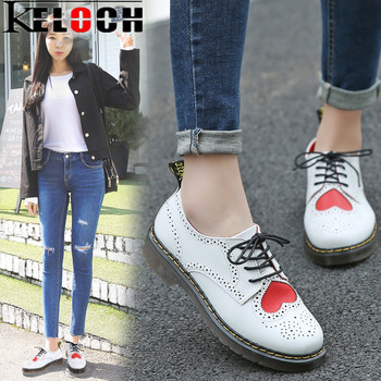 Keloch genuine leather women platform brogue shoes for women british retro lace up oxfords female casual.jpg 350x350