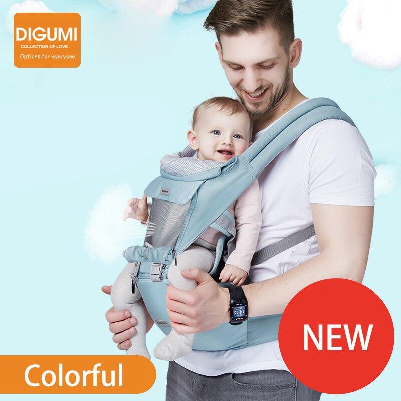 DIGUMI Роскошные 3 в 1 Baby Carrier эргономичный слинг рюкзак-Кенгуру Hipseat для новорожденных предотвратить о-типа ноги baby care