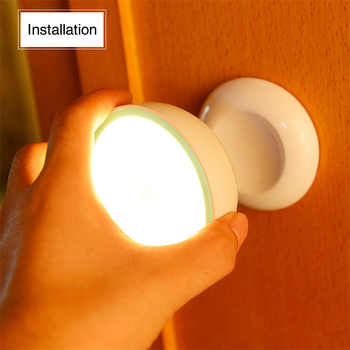 Nouveauté USB Rechargeable capteur de mouvement activé applique murale veilleuse lampe à Induction pour placard couloir armoire