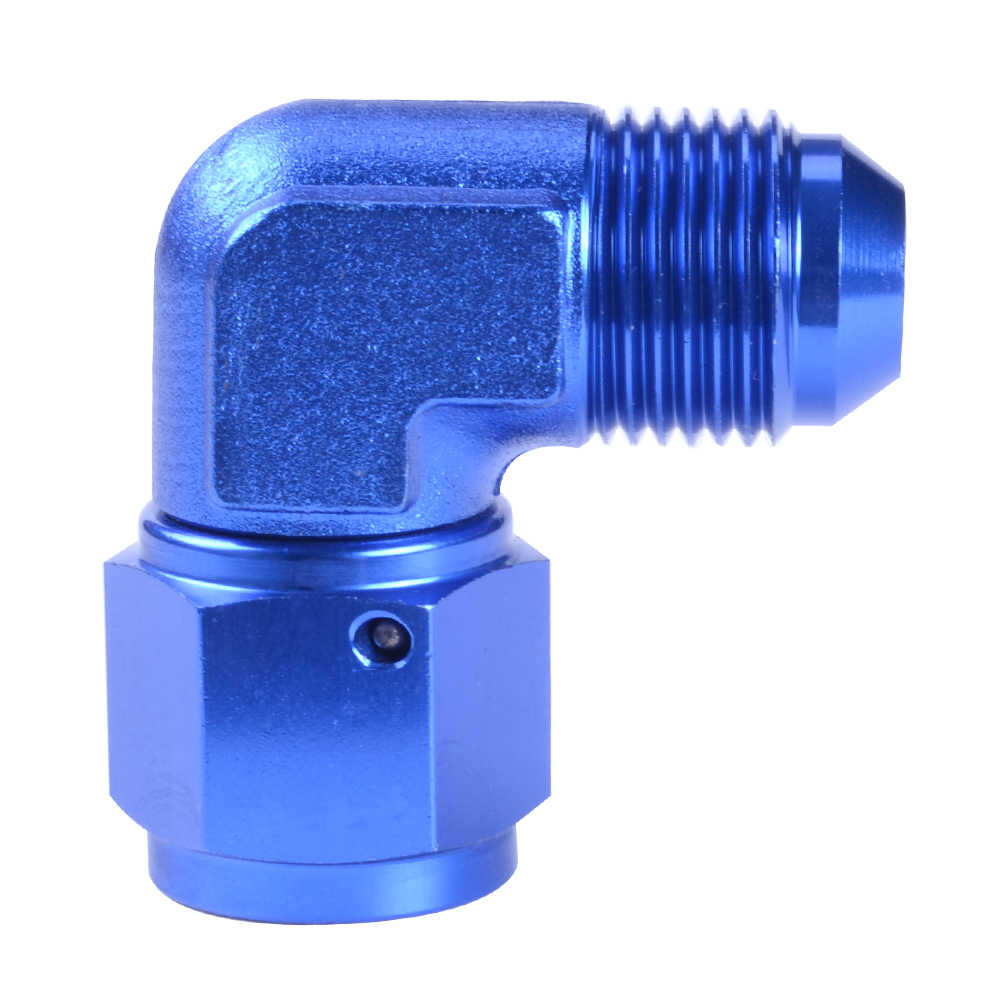 Blue Aluminum 90 Degree Elbow AN 8 Male To 1//4 NPT Male Fitting Adaptor Connector