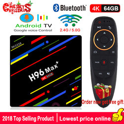 H96 MAX PLUS TV BOX Android 8.1 Google Voice Control 4GB 32GB 64GB RK3328 Quad Core 4K H.265 WiFi 2.4G+5G BT4.0 Media Player