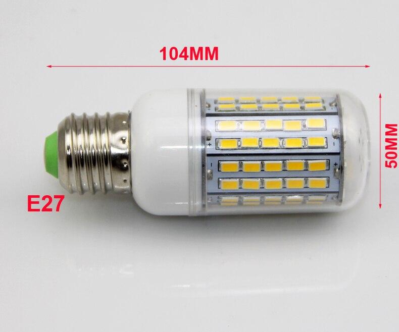 100X LED Licht Ultra heldere E14 E27 Led lampen Lamp Maïs 30 W SMD 5730 Met Cover 96 led Warm Wit Koel Wit 110 V/220 V - 4