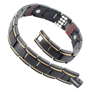 Image 5 - Hottime 109 PCS Bio Elements Energy Stone 3500 Gauss Magnetic Therapy Germanium Bracelet 4 IN 1 Mens Fashion Health Jewelry