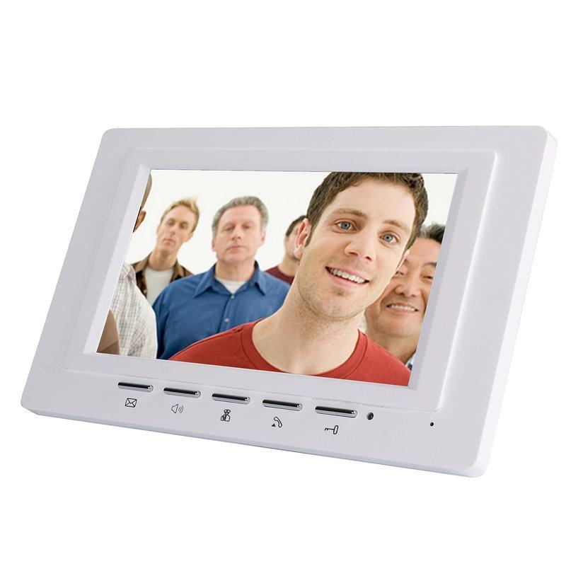 Image 3 - 7 Inch Video Door Phone Doorbell Intercom Kit 2  camera 1 monitor Night Vision-in Video Intercom from Security & Protection