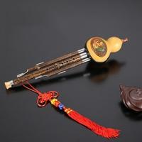Cucurbit Hulusi Flute Natural Gourd and Bamboo Flauta Hulusi C/bB Key Musical Instrument Professional Detachable Flute Hulusi