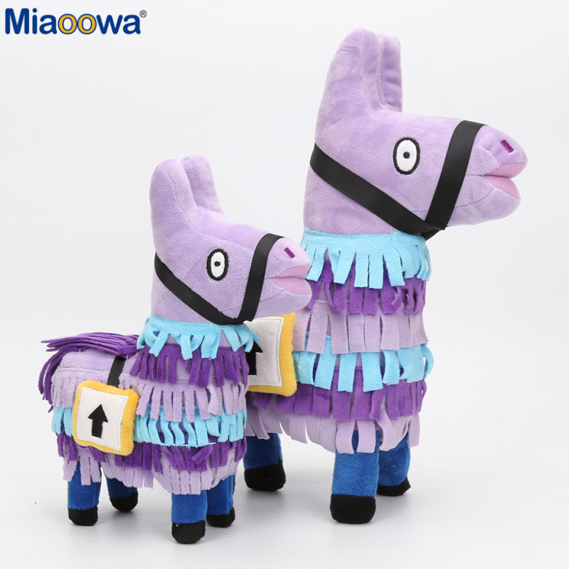 Miaoowa 25/34cm Fortnite Troll Stash Llama Plush Toy Hot Game Soft Alpaca Rainbow Horse Stash Stuffed Doll Kids Birthday Gift