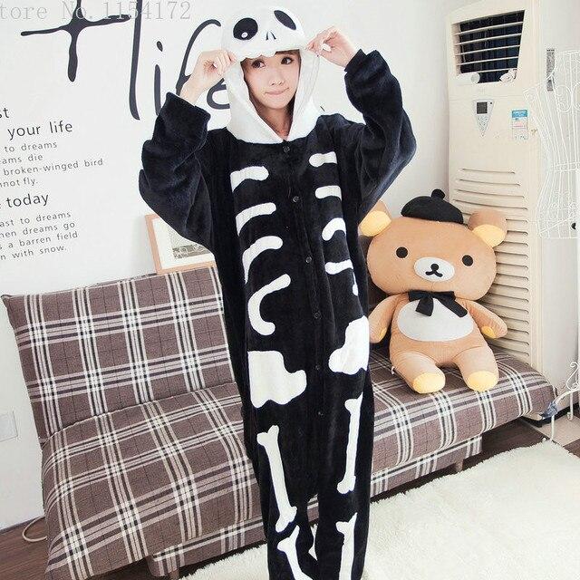 47f5c8113 Skeleton Anime adult onesies Pyjamas Cartoon Animal Cosplay Costume ...