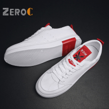 ZeroC 2019 Red Flag Skateboarding Shoes Men White Leather Man Shoe Sneakers Fashion Sport Low-top Trainers цена 2017