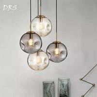 Nordic Minimalist Bar Chandelier Lighting Bedside Designer Creative Living Room Glass Luminaria Dining Room Lamps and Lanterns