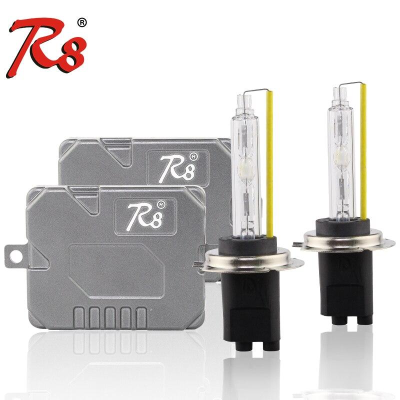 R8 voiture Auto HID Kits xénon 12V 55W 5500K Canbus Ballasts H1 H7 H4 H11 9005 9006 D2H H13 9007 lampes xénon haute luminosité sans erreur