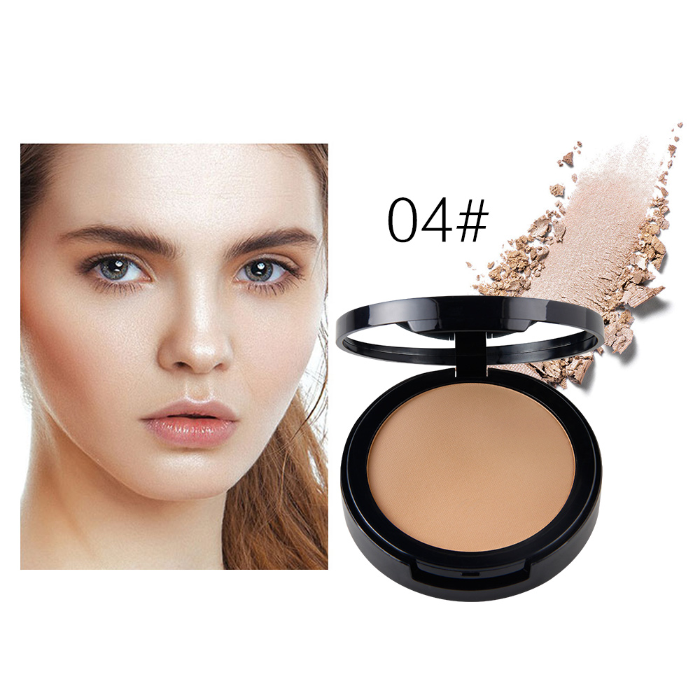 New Luxury Foundation Makeup Natural Pressed Powder Mineral Oil Control Whitening Palette Contouring Powder With Face Puff