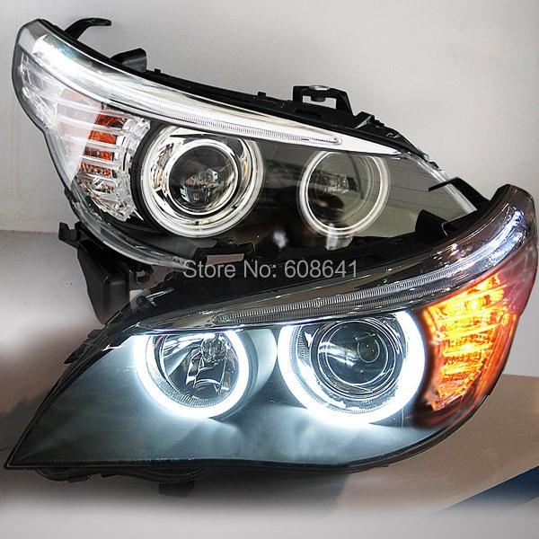 2004-08 Year E60 523i 525i 530i Head Light CCFL Angel Eyes For BMW original car without HID kit bmw e53 x5 2w 4000k ccfl green light car angel eyes kit dc 12v 127 6mm 158mm diameter