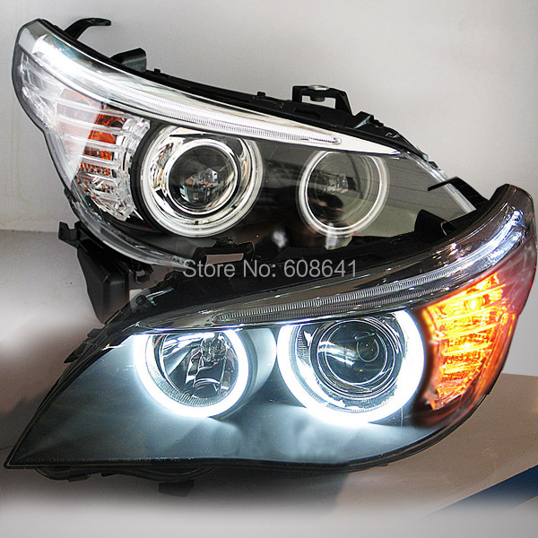 2004 08 Year E60 523i 525i 530i Head Light CCFL Angel Eyes For BMW original car without HID kit