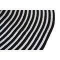 SAF 2016 NUEVA Encanto Diseño Plegable Negro y Blanco de La Raya de Empalme Bowknot Sombrero de Paja Sombrero Para El Sol Para Las Mujeres