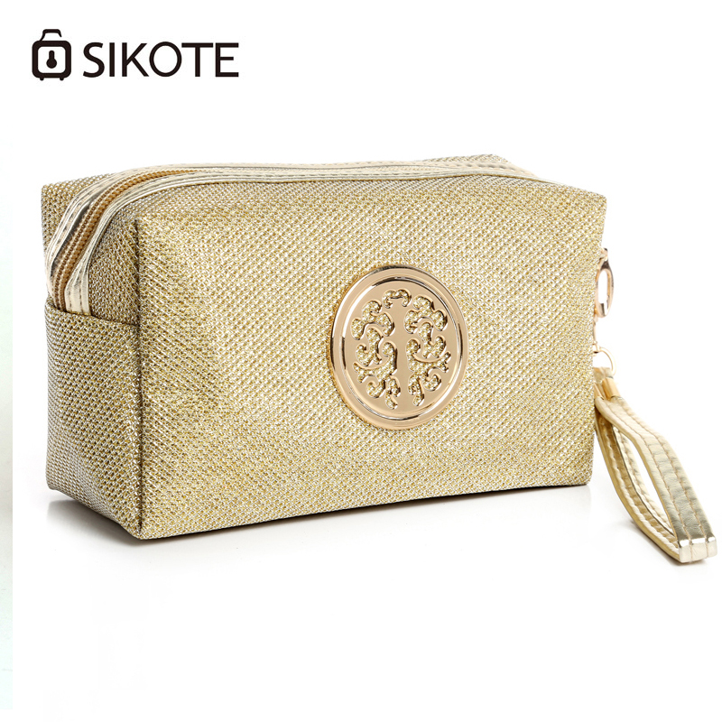 SIKOTE High Quality Solid Women Cosmetic Bag Travel Package Polyester Waterproof Makeup Bag Necessaire Maleta De Maquiagem