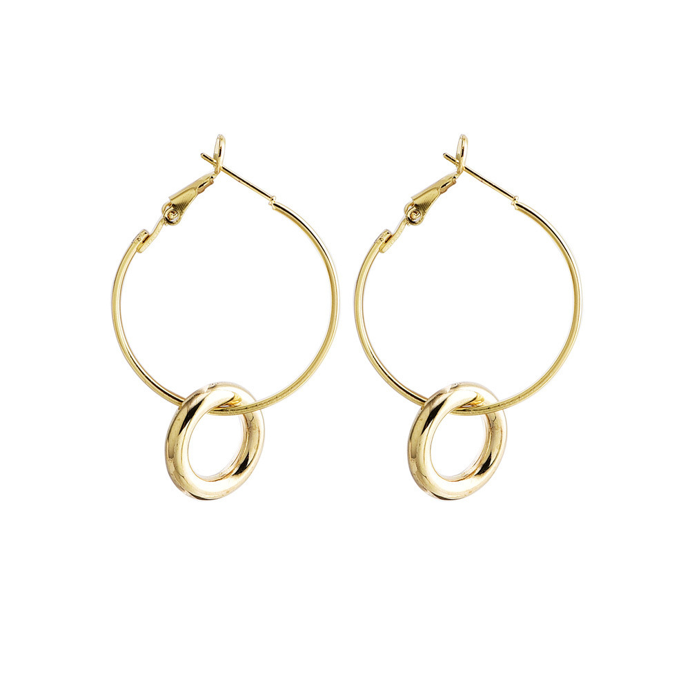 2019 New Earrings Popular Fashion Simple Circular Women 39 s Versatile Gold And Silver Hoop Earrings Hot Sell Jewelry Wholesale in Hoop Earrings from Jewelry amp Accessories