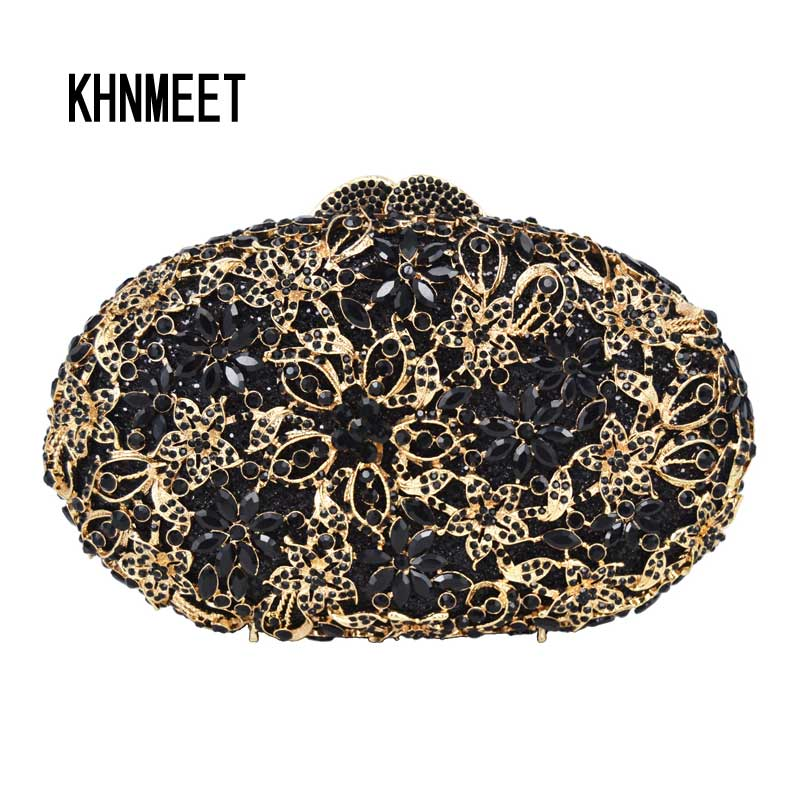 Free shipping Fashion Customized Handcraft Evening handbags Luxury Gold rhinestone Wedding clutch bags Purse SC203