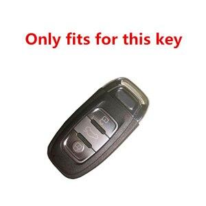 Image 4 - Nueva funda de diamante para llave de coche para Audi A6L A4L Q5 A3 A4 B6 B7 B8 llavero inteligente para niñas y mujeres regalos accesorios de concha