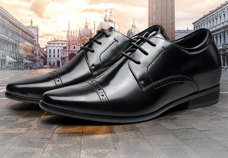 840349e843 CHAMARIPA Elevator Sapatos Aumentar A Altura 7 cm 2.76 polegada Homens  Altos Sapatos de Vestido Formal Preto Senhores Sapatos Mais Altos  L71D11V081D em ...