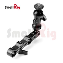 SmallRig Double Ball Head Rail Clamp Mount with 15mm Rail Block for Monitors,Viewfinders,Digital Recorders, Camera Lights – 1268