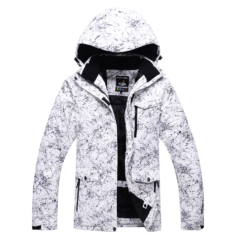 -30 Men or woman white Snow jackets outdoor skiing coats snowboarding clothing waterproof windproof winter costumes jackets
