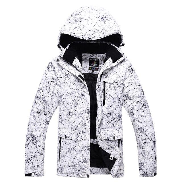 5c669821c73 -30 chaquetas de nieve de color blanco para hombre y mujer Abrigos de esquí  al