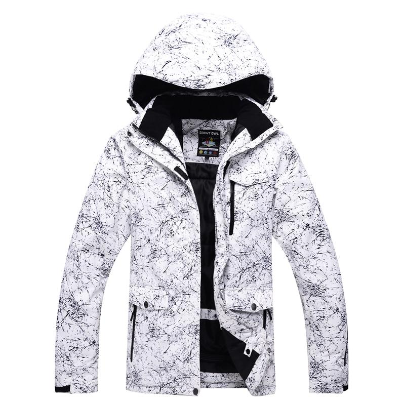 -30 Weiß Farbe Männer Und Frauen Schnee Jacken Outdoor Skifahren Mäntel Snowboard Kleidung Wasserdicht Winddicht Winter Kostüme