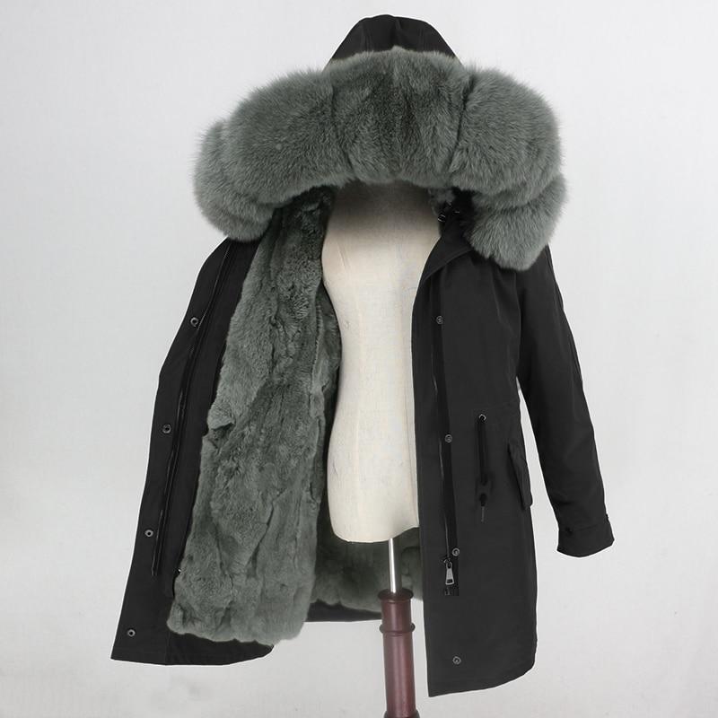 OFTBUY Waterproof Parka Winter Jacket Women Real Fur Coat Natural Fur Collar Hood Rabbit Fur Liner Long Outerwear Streetwear-in Real Fur from Women's Clothing    3