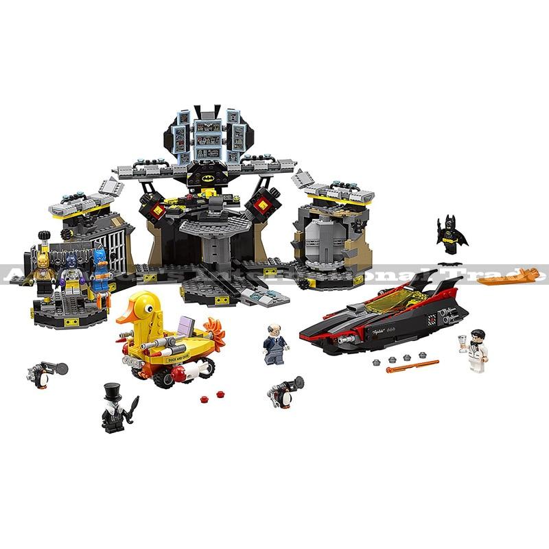 Lepin 07052 Genuine Batman Movie Series 70909 Batcave Break-in Building Blocks Bricks Educational Toys 1047PCS