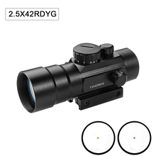 Tactical Hunting Scope 2.5X42 Red Dot Sight Scope Illumination Adjust Riflescope With Side Picatinny Rail For Shot Gun Airsoft hunting scope tactical acog 1x32 red dot sight scope optic reflex riflescope with 20mm picatinny rail for rifle m4 m16 airsoft