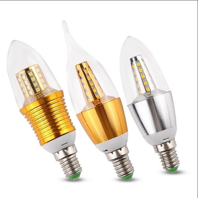 Us 35 Spirala Oświetlenie Led Super Bright Led żarówki świecowe E14 Energooszczędne Lampy W Spirala Oświetlenie Led Super Bright Led
