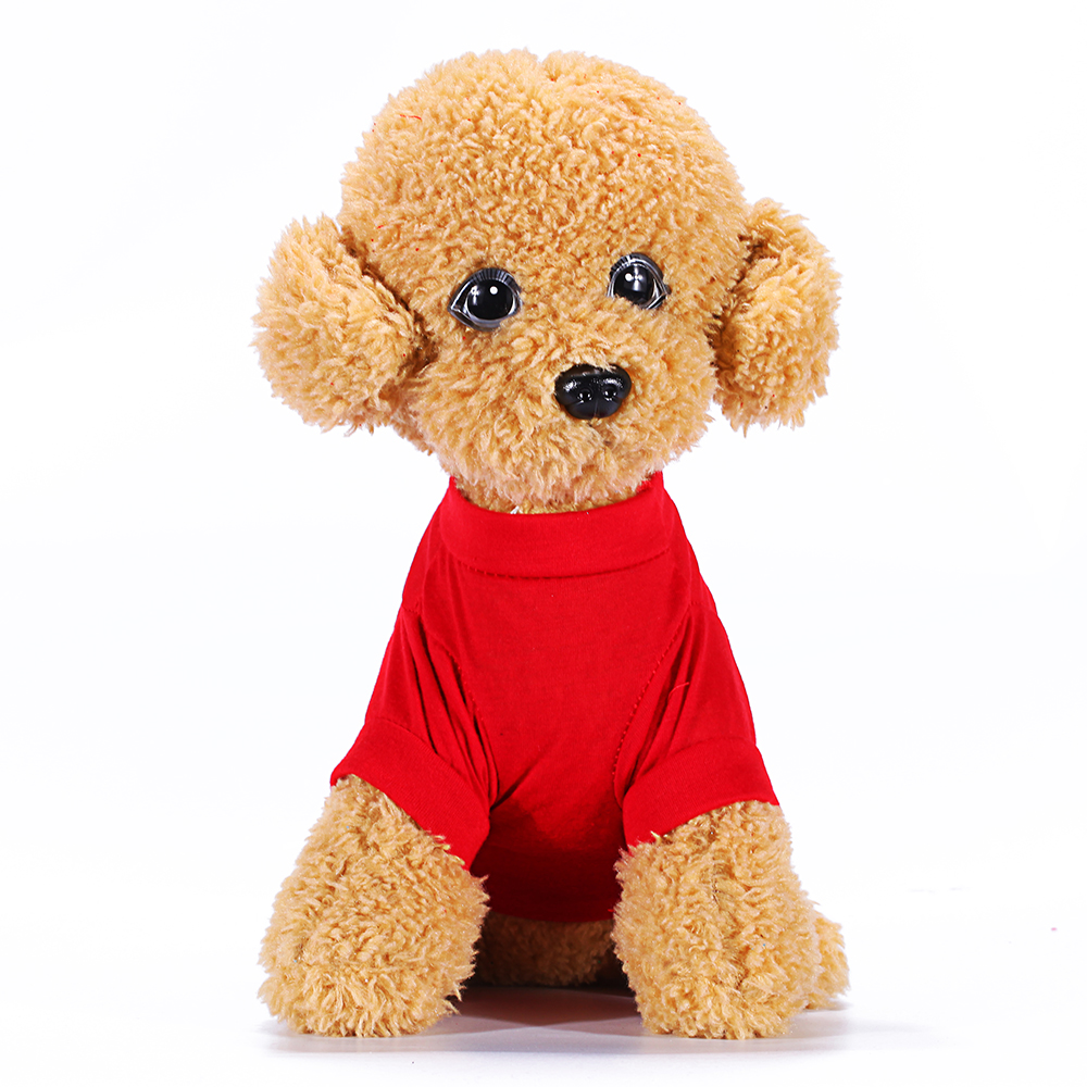 Dog Clothing Cat Pet T Shirt Lovely Dogs Clothes Red Christmas ...