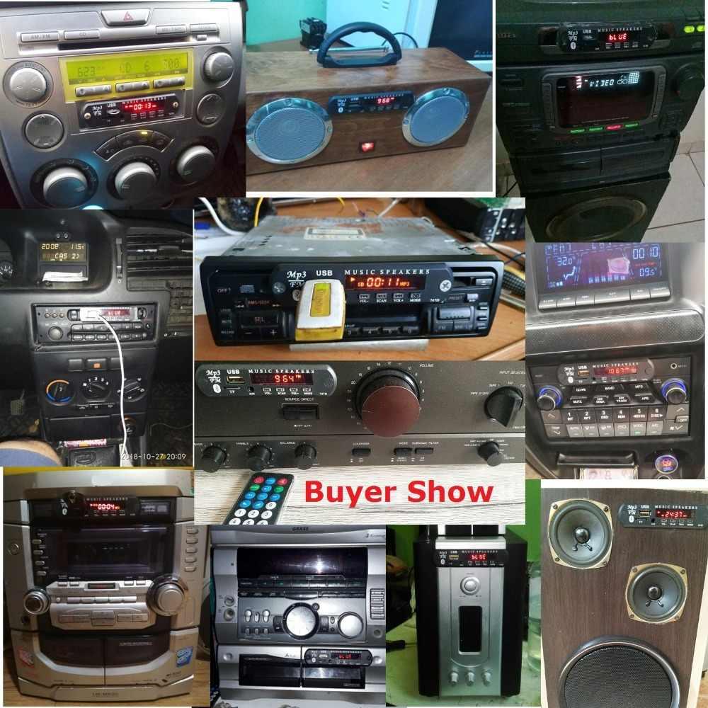 Bluetooth manos libres Kit de coche inalámbrico de FM RECEPTOR DE Mp3 jugador decodificador USB 3,5 MM reproductor de música DIY del coche modificación