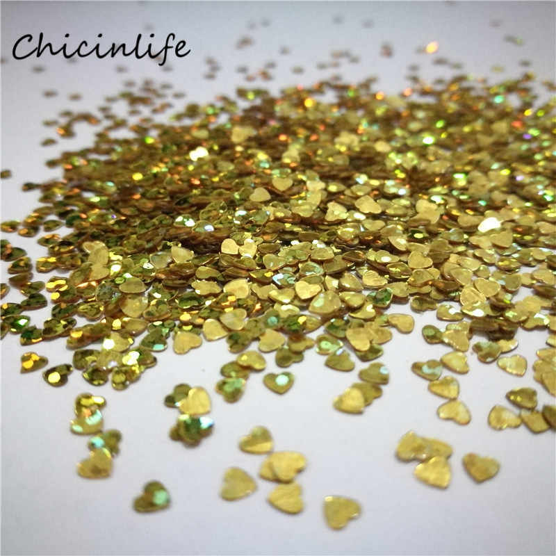 Chicinlife 1000pcs/lot Gold/Silver 3mm Wedding Heart Confetti Table Decoration Wedding Party Decoration Confetti Wedding Favor