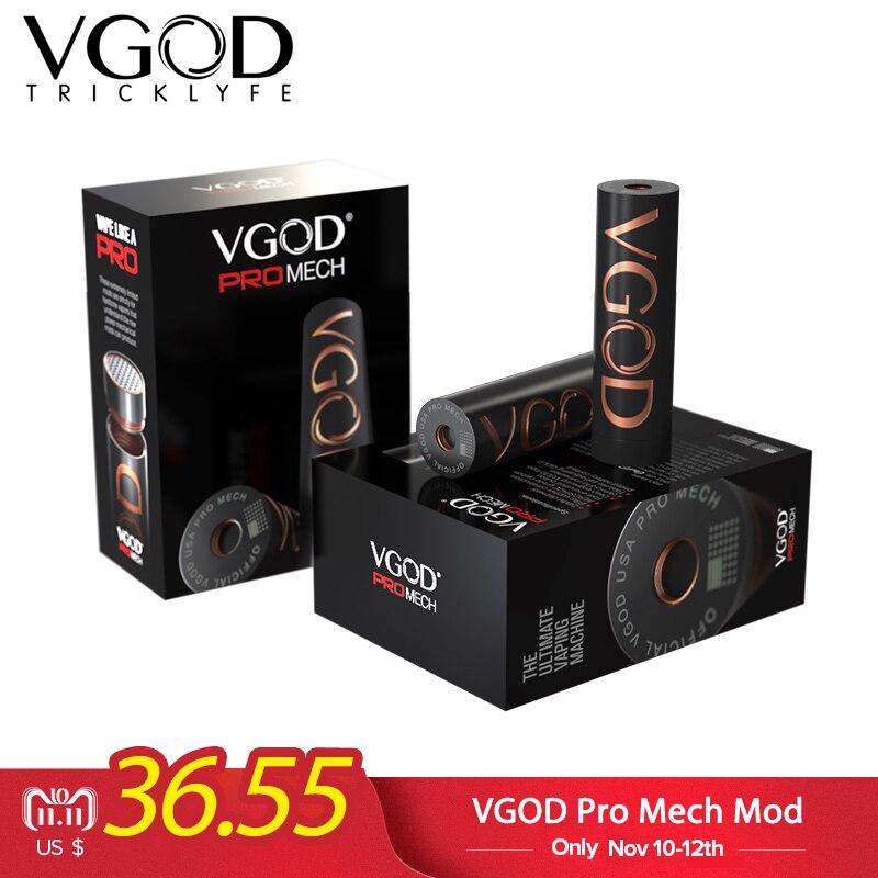 D'origine Elektronik Sigara VGOD Pro Mech Mod 510 fil Réservoir Atomiseur Vaporisateur Mécanique Mod Cigarettes Électroniques Vaporisateur mod