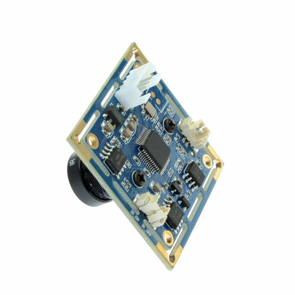 Linux 2.8mm lens MJPEG/YUV2 0.3MP VGA UVC small usb video camera with 38X38mm board
