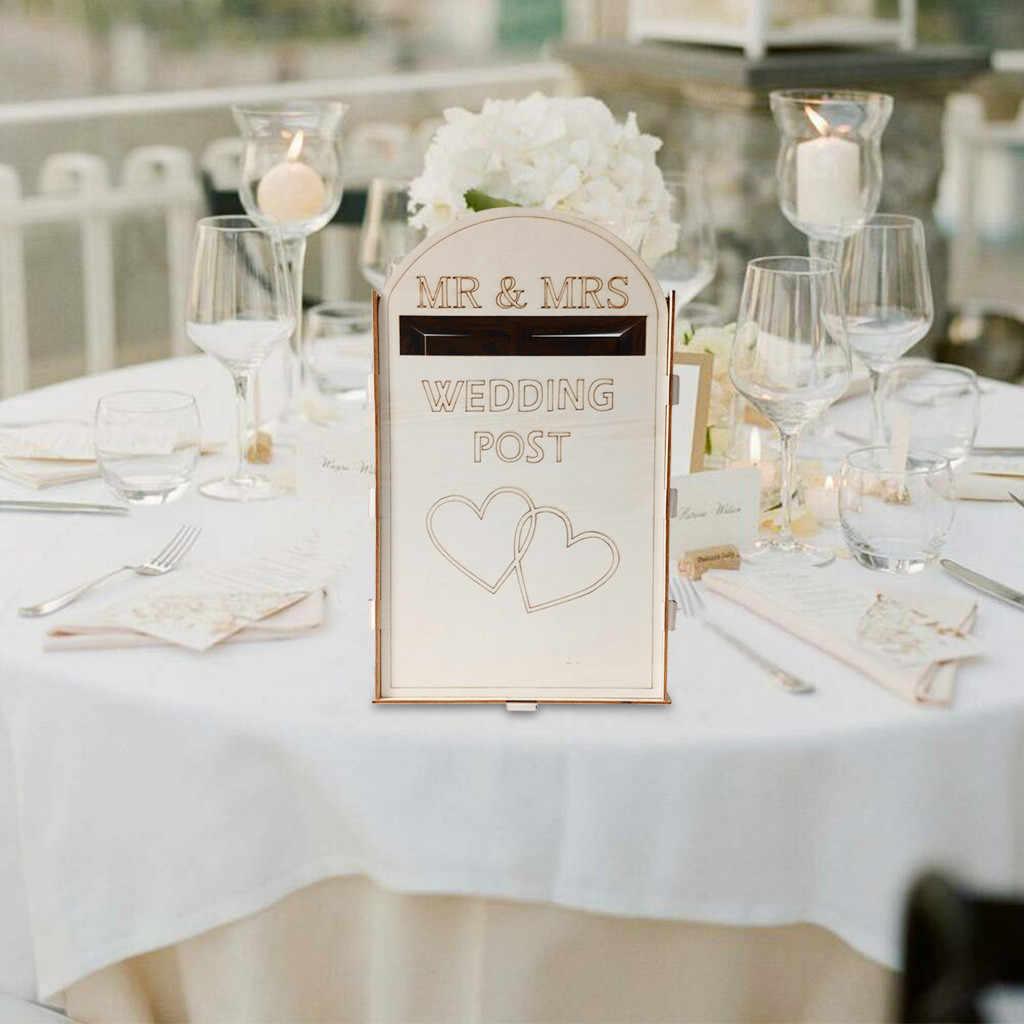Solid Pine Sepenuhnya Dirakit Personalised Pernikahan Kartu Kotak Pos Royal Mail Style Pesta Decoration Aksesoris Persediaan #23/5