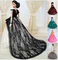 Free Shipping New Arrival Doll Accessories Wedding Dress Party Clothes White Skirt for Barbie Doll