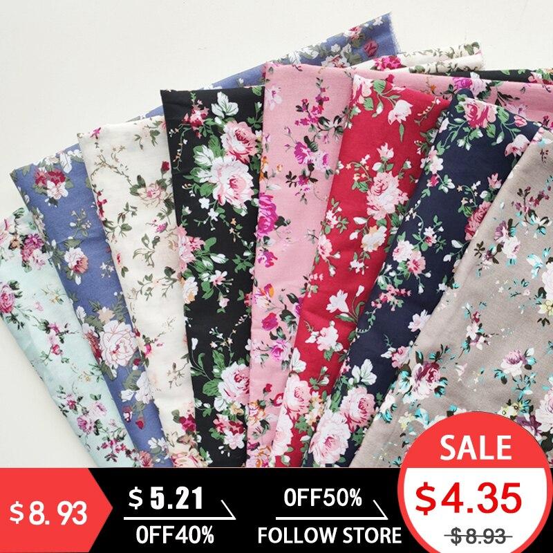 Tissu en coton pour robe tissu imprimé haute qualité mode Floral poupée tissu section mince bricolage vêtements couture couture à la main